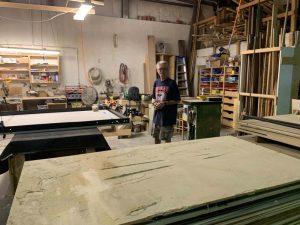 A Man Working In Alpha Closets Workshop Custom Closets Alpha Closets Company Inc, 6084 Gulf Breeze Pkwy, Gulf Breeze, Fl 32563 (850) 934 9130