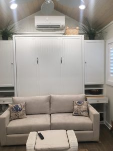 Double Sofa Murphy Beds Closed Up In White Murphy Beds Alpha Closets & Company Inc, 6084 Gulf Breeze Pkwy, Gulf Breeze, Fl