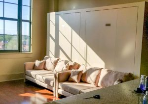 Double Sofa Wall Bed W Block Frame Almond Murphy Beds Alpha Closets & Company Inc, 6084 Gulf Breeze Pkwy, Gulf Breeze, Fl