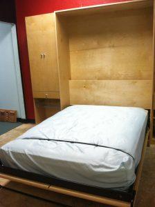 Full Murphy Bed Open W Back Murphy Beds Alpha Closets & Company Inc, 6084 Gulf Breeze Pkwy, Gulf Breeze, Fl 32563 (850) 934 9130