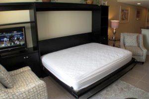 Horizontal Black Murphy Bed With Mattress Murphy Beds Alpha Closets & Company Inc, 6084 Gulf Breeze Pkwy, Gulf Breeze