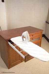 Ironing Table Inside A Custom Built Drawer Custom Closets Alpha Closets & Company Inc, 6084 Gulf Breeze Pkwy, Gulf Breeze, Fl 32563 (850) 934 9130