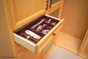 Jewelry Inside A Custom Shelf Closet Accessories Alpha Closets & Company Inc, 6084 Gulf Breeze Pkwy, Gulf Breeze, Fl 32563 (850) 934 9130