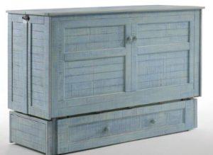 Light Blue Murphy Cabinet Bed Poppy Murphy Beds Alpha Closets & Company Inc, 6084 Gulf Breeze Pkwy, Gulf Breeze, Fl 32563 (850) 934 9130