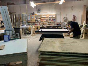 Man Working In Alpha Closets Workshop Custom Closets Alpha Closets Company Inc, 6084 Gulf Breeze Pkwy, Gulf Breeze, Fl 32563 (850) 934 9130