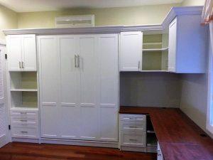 Murphy Bed Shaker Painted W Home Office Murphy Beds Alpha Closets & Company Inc, 6084 Gulf Breeze Pkwy, Gulf Breeze, Fl 3256