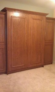Murphy Bed With Applied Trim Stained Maple Qn Murphy Beds Alpha Closets & Company Inc, 6084 Gulf Breeze Pkwy, Gulf Breeze, F