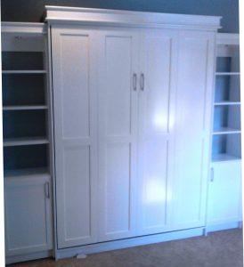 Murphy Bed Shaker Panels Painted Crown Murphy Beds Alpha Closets & Company Inc, 6084 Gulf Breeze Pkwy, Gulf Breeze, Fl 32563