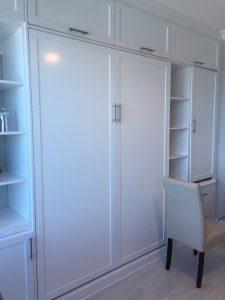 White Murphy Bed Closed Up Murphy Beds Alpha Closets & Company Inc, 6084 Gulf Breeze Pkwy, Gulf Breeze, Fl 32563 (850) 934 9130