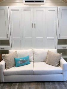 White Sofa Bed Murphy Beds Alpha Closets & Company Inc, 6084 Gulf Breeze Pkwy, Gulf Breeze, Fl 32563 (850) 934 9130