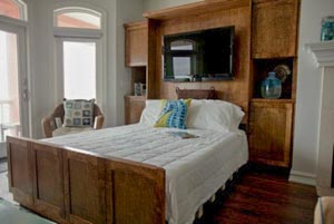 Zoom Room Stained Maple Room Bedding Funiture Murphy Beds Alpha Closets & Company Inc, 6084 Gulf Breeze Pkwy, Gulf Breeze