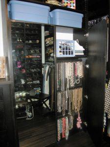 Inside A Closet Filled With Accessories Custom Accessories Alpha Closets Company Inc, 6084 Gulf Breeze Pkwy, Gulf Breeze, Fl 32563 (850) 934 9130