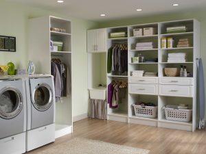 Organized Laundry Room Custom Laundry Storage Alpha Closets Company Inc, 6084 Gulf Breeze Pkwy, Gulf Breeze, Fl 32563 (850) 934 9130