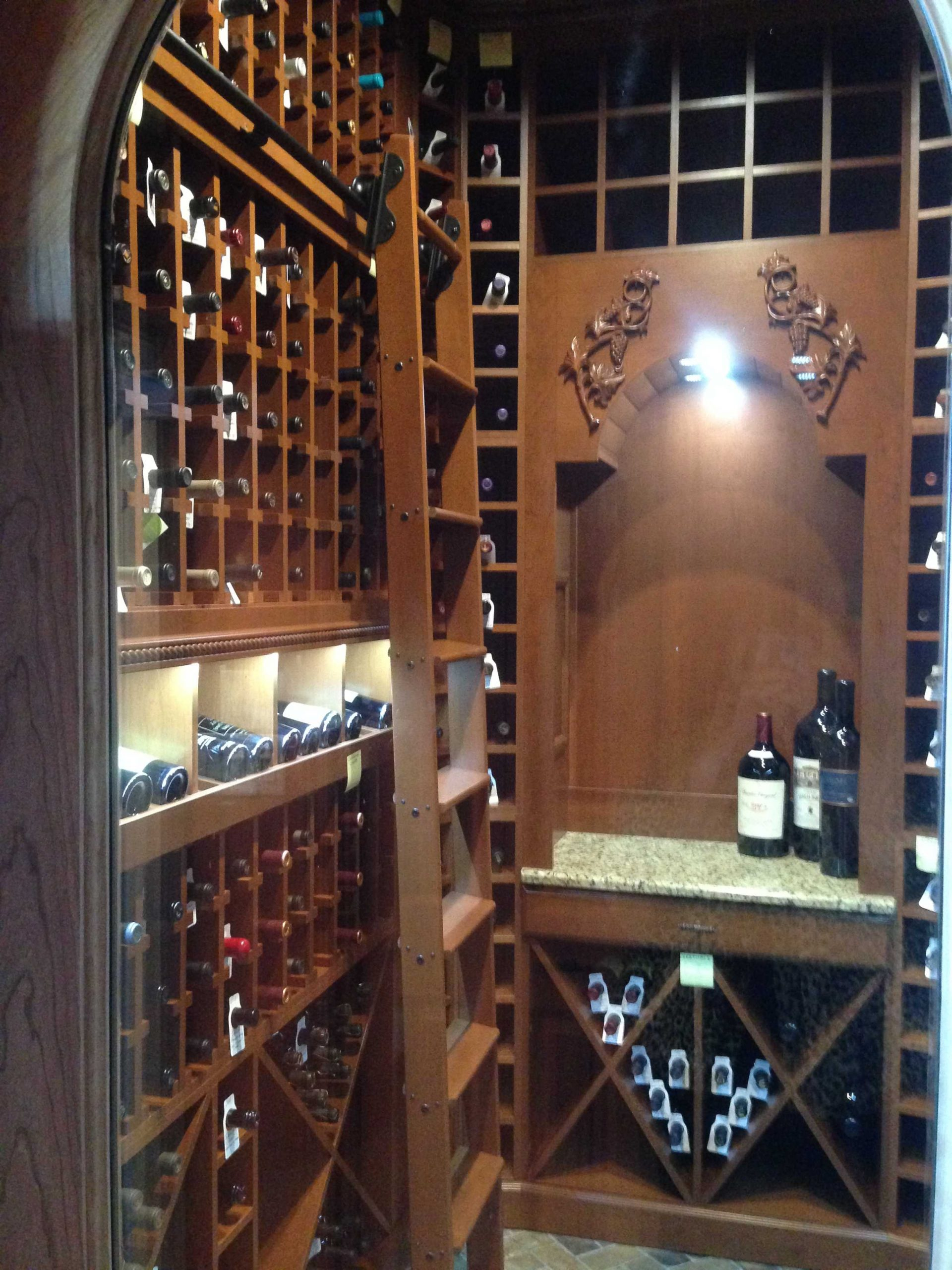 Wine Cellar Custom Wine Storage Alpha Closets Company Inc, 6084 Gulf Breeze Pkwy, Gulf Breeze, Fl 32563 (850) 934 9130