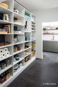 Inside An Organized Shelved Pantry Custom Kitchen And Pantry Storage Alpha Closets Company Inc Gulf Breeze