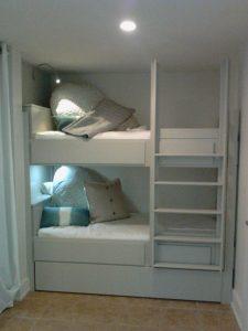 Bunk Bed W Lights Murphy Beds Alpha Closets Company Inc, 6084 Gulf Breeze Pkwy, Gulf Breeze, Fl 32563 (850) 934 9130