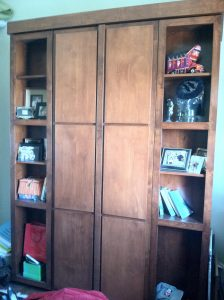 Bookcase Murphy Bed Stained W Doors Murphy Beds Alpha Closets Company Inc 6084 Gulf Breeze Pkwy Gulf Breeze Fl 32563 850 934