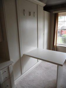 Fold Down Table Open Ivory Murphy Beds Alpha Closets Company Inc 6084 Gulf Breeze Pkwy Gulf Breeze, Fl 32563 850 934 9130