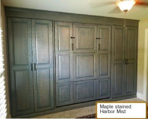 Fold Down Table Raised Panel Closed Murphy Beds Alpha Closets Company Inc 6084 Gulf Breeze Pkwy Gulf Breeze, Fl 32563 850 934 9130