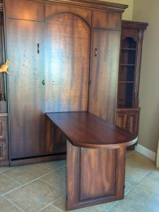 Fold Out Table Custom Qn Stained Murphy Beds Alpha Closets Company Inc 6084 Gulf Breeze Pkwy Gulf Breeze, Fl 32563 850 934 9130