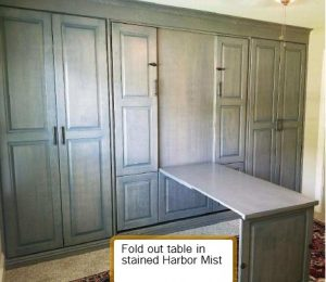 Fold Out Table Murphy Bed Open Murphy Beds Alpha Closets Company Inc 6084 Gulf Breeze Pkwy Gulf Breeze, Fl 32563 850 934 9130