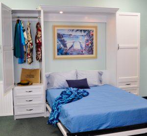 Patrick Bed W Open Side Unit Murphy Beds Alpha Closets Company Inc, 6084 Gulf Breeze Pkwy, Gulf Breeze, Fl 32563 (850) 934 9130